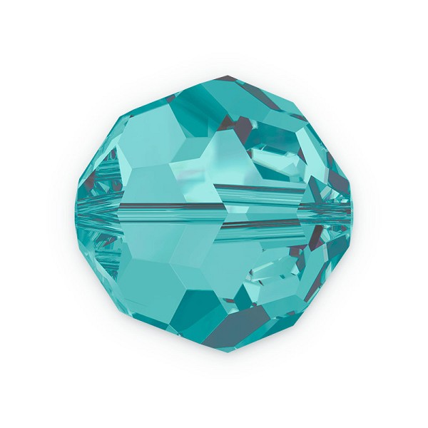 Swarovski Crystal 5000 4mm Blue Zircon Round Bead (6-Pcs)