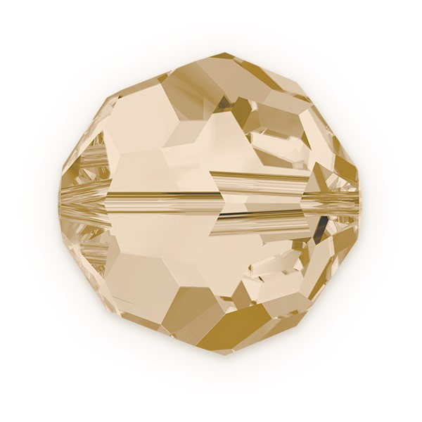 Swarovski 5000 3mm Crystal Golden Shadow Round Bead (12-Pcs)