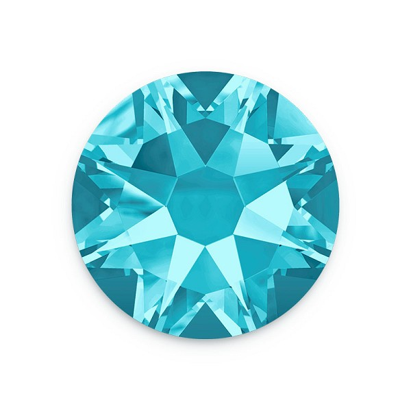 Swarovski 2088 3mm (SS12) Aquamarine Flat Back (10-Pcs)