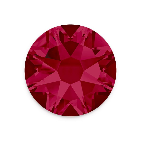 Swarovski 2088 4mm (SS16) Ruby Flat Back (10-Pcs)