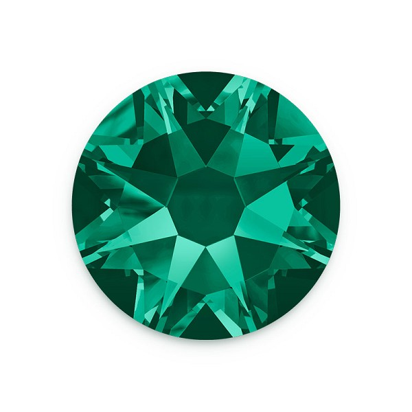 Swarovski 2088 6.5mm (SS30) Emerald Flat Back (5-Pcs)