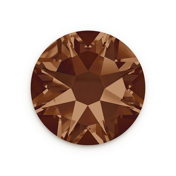 Swarovski 2088 4.7mm (SS20) Smoked Topaz Flat Back (10-Pcs)