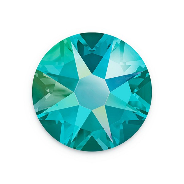 Swarovski 2088 3mm (SS12) Blue Zircon Shimmer Flat Back (10-Pcs)