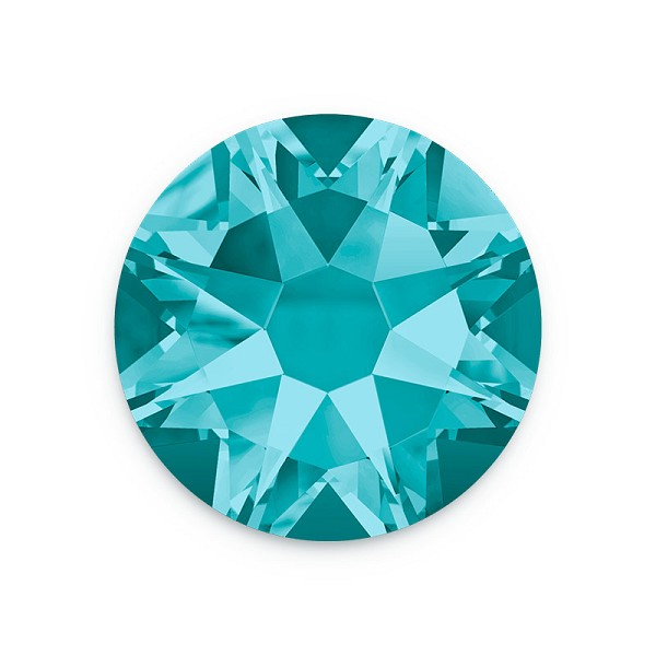 Swarovski 2088 6.5mm (SS30) Blue Zircon Flat Back (5-Pcs)
