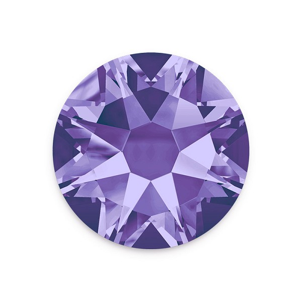 Swarovski 2088 7mm (SS34) Tanzanite Flat Back (5-Pcs)