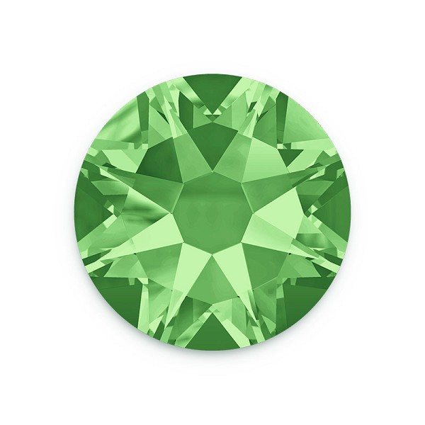Swarovski 2088 4mm (SS16) Peridot Flat Back (10-Pcs)