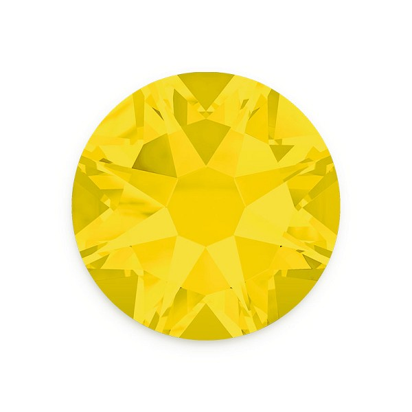 Swarovski 2088 4mm (SS16) Yellow Opal Flat Back (10-Pcs)
