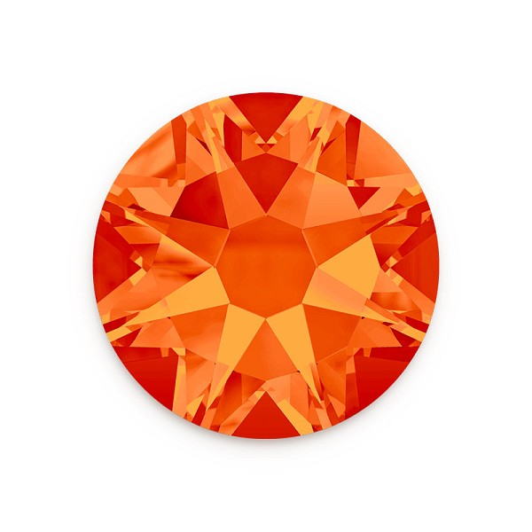 Swarovski 2088 3mm (SS12) Fire Opal Flat Back (10-Pcs)