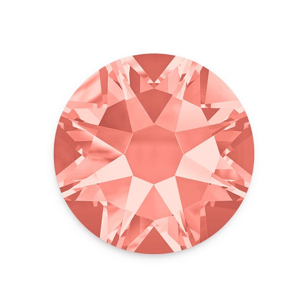 Swarovski 2088 4mm (SS16) Rose Peach Flat Back (10-Pcs)