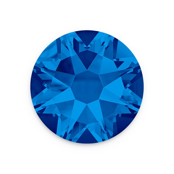 Swarovski 2028 4mm (SS16) Capri Blue Flat Back (10-Pcs)