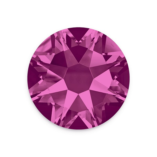 Swarovski 2088 4mm (SS16) Fuchsia Flat Back (10-Pcs)
