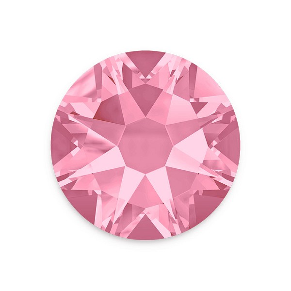 Swarovski 2088 6.5mm (SS30) Light Rose Flat Back (5-Pcs)