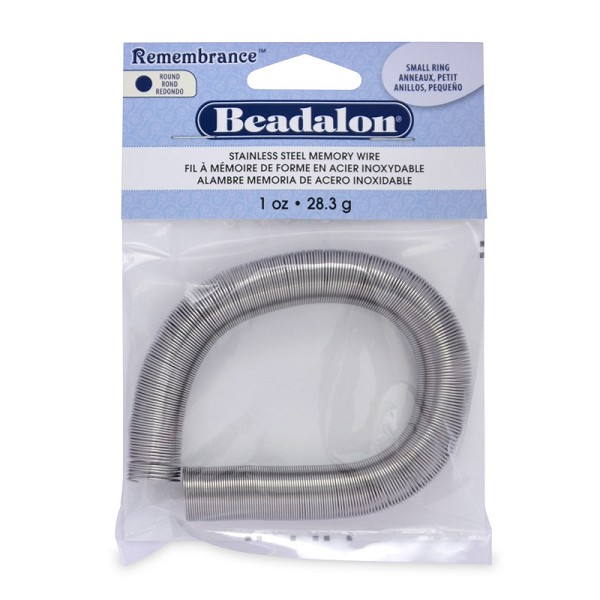 Remembrance Round Ring Memory Wire Bright Stainless Steel 1oz.
