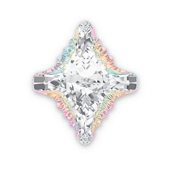 Swarovski 4927 Rhombus Tribe Fancy Stone 19x17mm Crystal AB (1-Pc)
