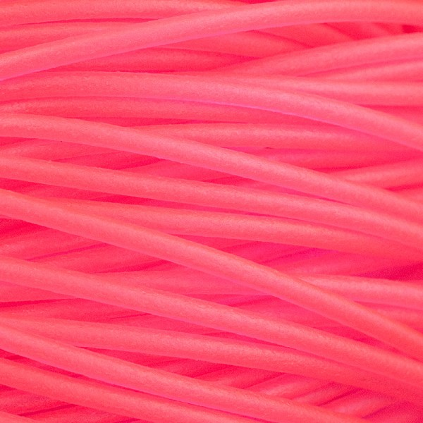Soft Glass Tubing 2.5mm  Hot Pink (10 Foot Piece)