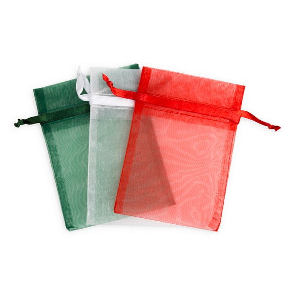 4x5 Holiday Mix Organza Bags (Package of 15)