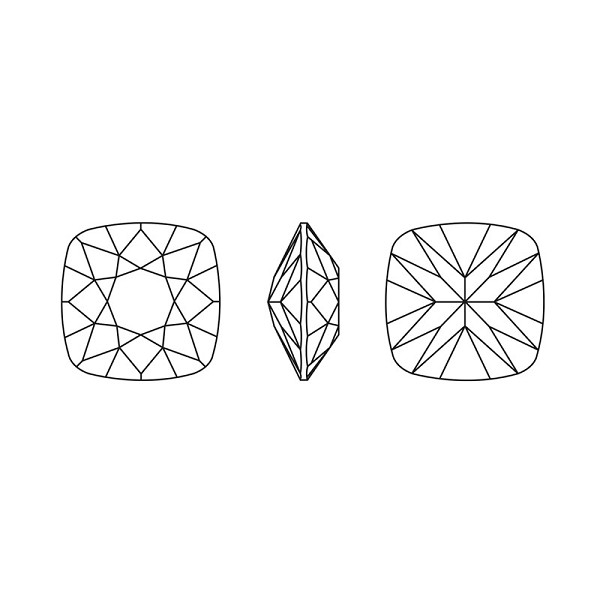 Swarovski 4470 12mm Crystal Paradise Shine Cushion Cut Square Fancy Stone (1-Pc)
