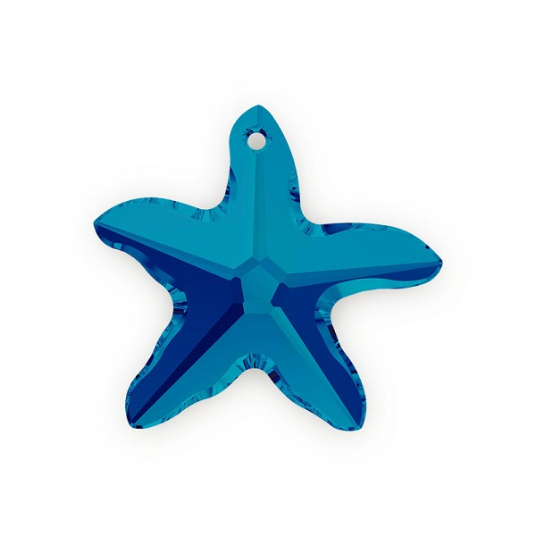Swarovski Crystal Starfish 6721 20mm Bermuda Blue (1-Pc)