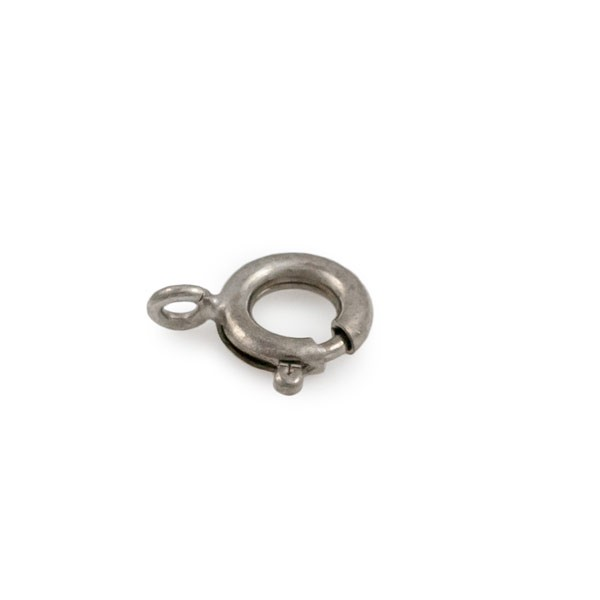 Spring Ring Clasp 6mm Silver Color Open Ring (3-Pcs)