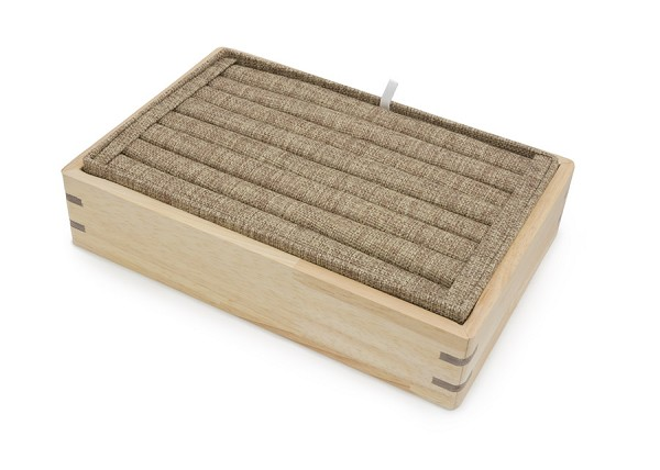 Stackable Burlap Ring Tray