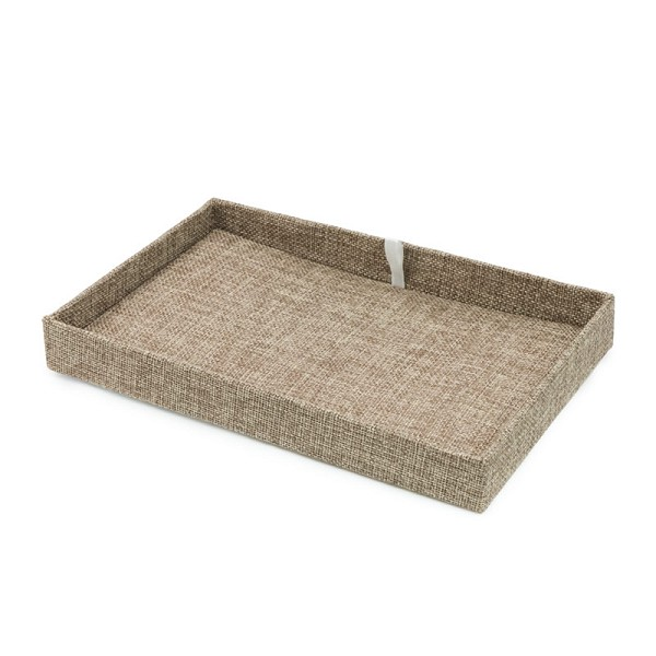 2 Inch Tall Stackable Burlap Display Pad & Tray