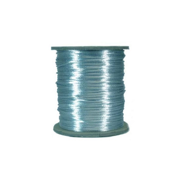 Rattail Satin Cord 2mm Light Blue (Priced per Yard)