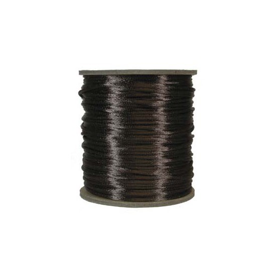 Rattail Satin Cord 3mm  Medium Brown (Priced per Yard)