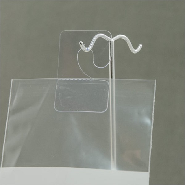 Clear J-Hook Hang Tabs (200-Pcs.)
