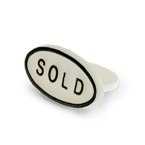 Sold Sign White (10-Pcs)