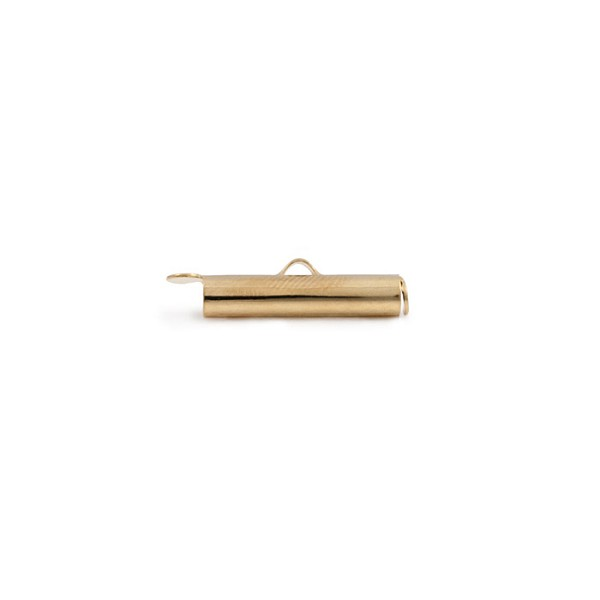 Slide Connector Tube Gold Plated 16x4mm (1-Pc)