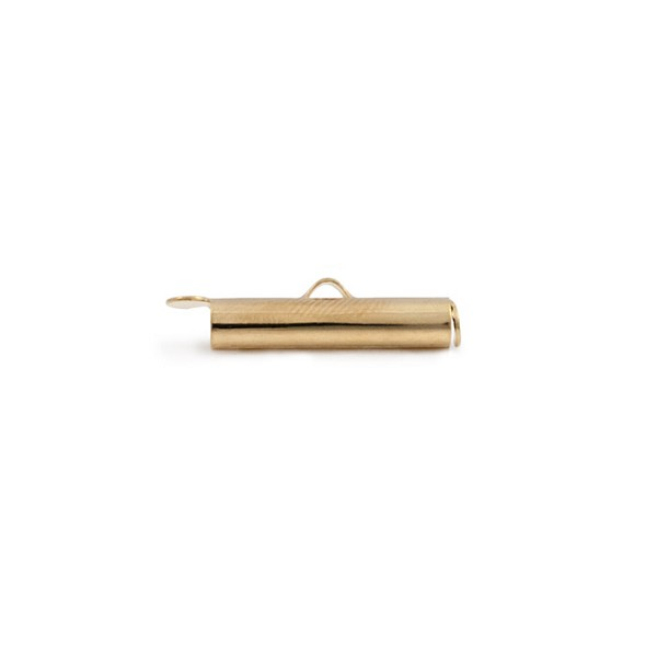 Slide Connector Tube Gold Plated 20x4mm (1-Pc)