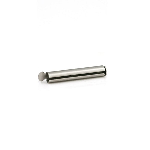 Slide Connector Tube Satin Rhodium Plated 20x4mm (1-Pc)