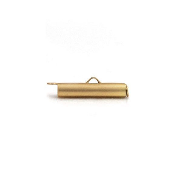 Slide Connector Tube Satin Gold Plated 20x4mm (1-Pc)