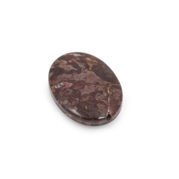 18x25mm Tiger Jasper Oval Pendant Bead (1-Pc)