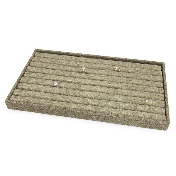 1 Inch Tall Standard Size Burlap Display Tray and Ring Pad