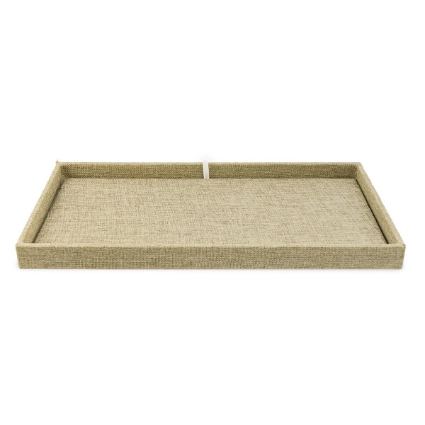 1 Inch Tall Standard Size Burlap Jewelry Tray and Pad
