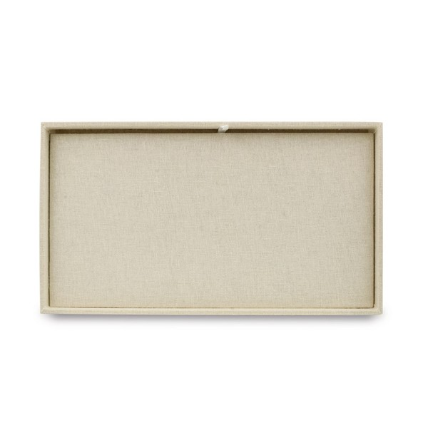 1 Inch Tall Standard Size Linen Jewelry Tray and Pad