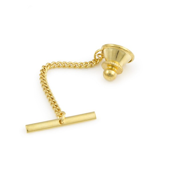 Tie Tack Clutch With Chain 10mm Gold Plated (1-Pc)
