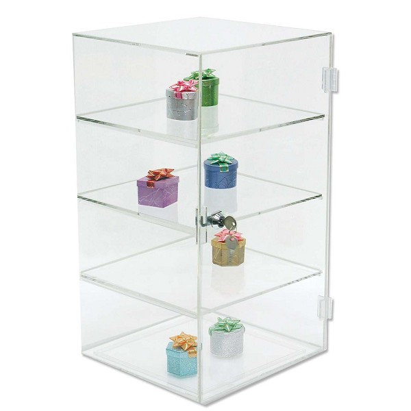 "Acrylic Display Case with 3 Shelves 18 1/2""H"