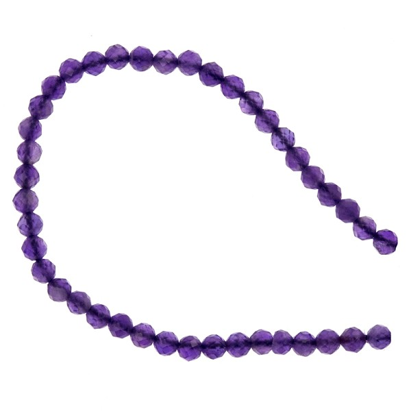 Amethyst Faceted Beads 2mm (13 Inch Strand)