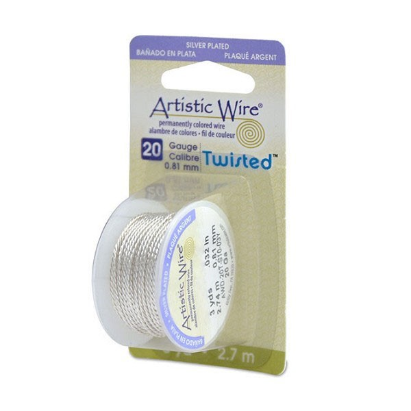 Artistic Wire 20ga Tarnish Resistant Silver Twisted (3 Yards)