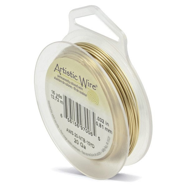 Artistic Wire 20ga Tarnish Resistant Brass (15 Yards)