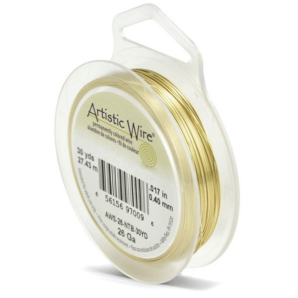 Artistic Wire 26ga Tarnish Resistant Brass (30 Yards)