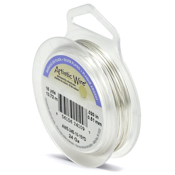 Artistic Wire 24ga Tarnish Resistant Silver (15 Yards)