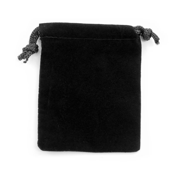 Anti-Tarnish Black Drawstring Velvet Pouch 2x3