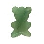 Aventurine Top Drilled Faceted Teddy Bear Bead 14x20mm (1-Pc)