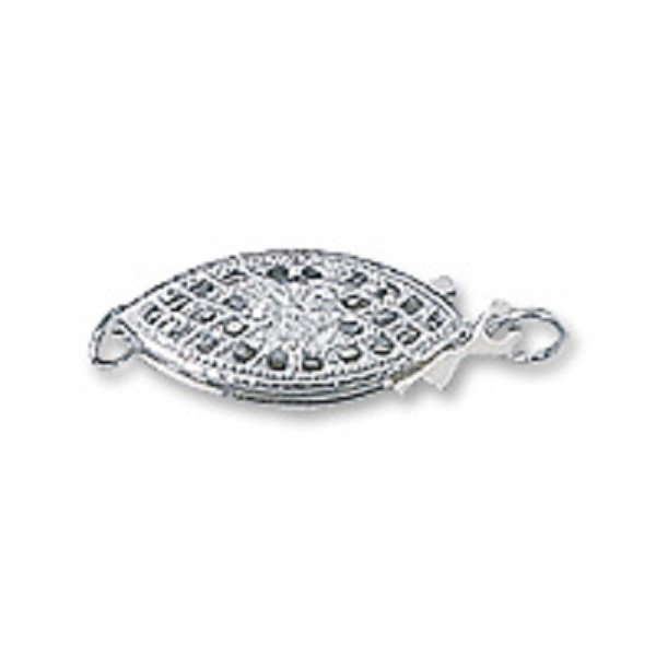 Filigree Clasp 16x6mm Sterling Silver (1-Pc)