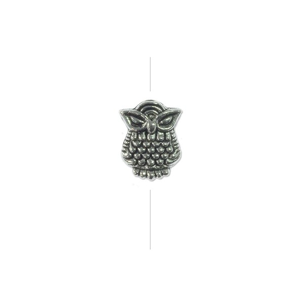 10x8mm Pewter Owl Bead (1-Pc)