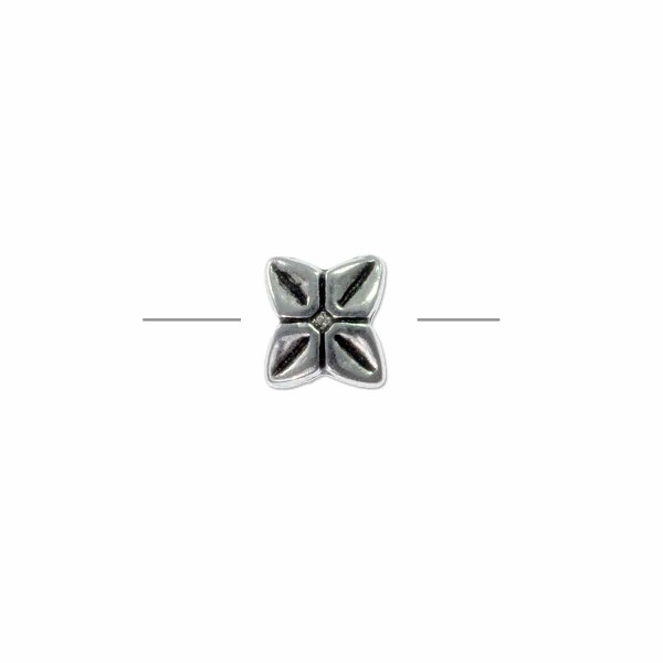 Pinwheel Bead 7mm Pewter Antique Silver Plated (1-Pc)