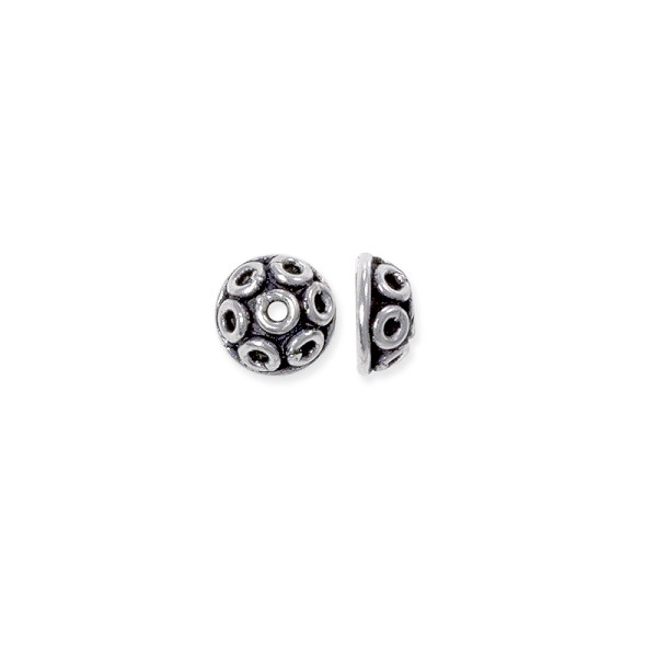 Bead Cap Bali Style 7mm Sterling Silver (1-Pc)
